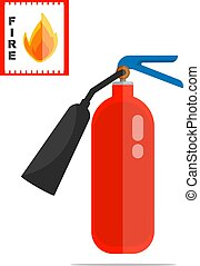 Fire extinguisher vector object