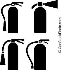 Fire extinguisher vector pictogram