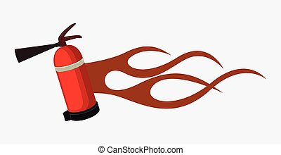 Fire-Extinguisher with Flame
