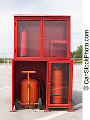 Fire extinguishers and equipment