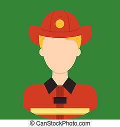 Fire Fighter Characte icon | Great of vector character illustration use for human, profession, business, marketing and much more. The set can be used for several purposes like: websites, print templates, presentation templates, and promotional materials.