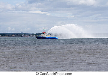Fire fighting boat