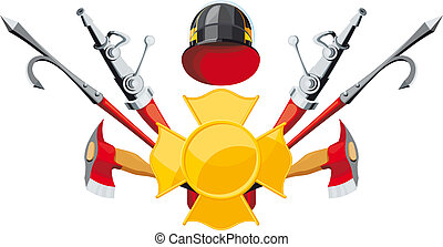 fire-fighting equipment emblem - emblem fire department....