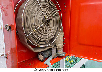 fire fighting equipment - Fire fighting equipment in the red...