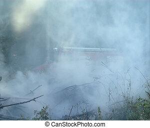 Fire fighting machine and fireman