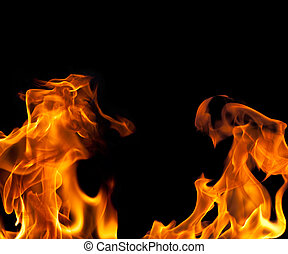 Fire Flame Border Background - Imagew of a Fire Flame Border...
