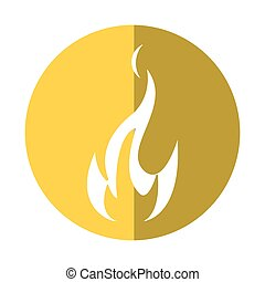 fire flame bright danger icon yellow circle
