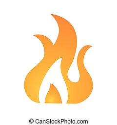 fire flame burn hot design