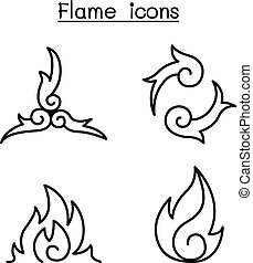 Fire, flame , Burn vector illustration graphic design