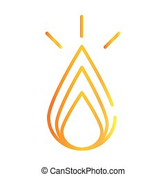 fire flame burning gradient style icon vector