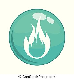 fire flame button icon