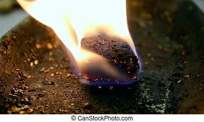 Fire flame closeup, propane fuel diversity, stress...