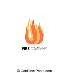 Fire flame company logo template