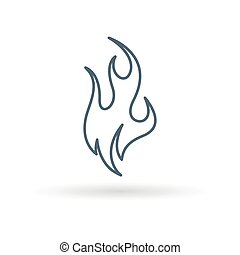 Fire flame icon on white background