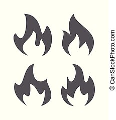 Fire flame icons
