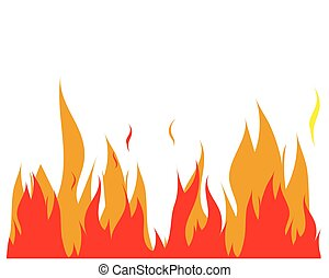 Fire flame Logo Template illustration