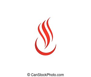 fire flame logo template vector icon oil gas and energy vectors
