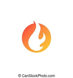 Fire flame Logo Template vector icon Oil, gas and energy ...