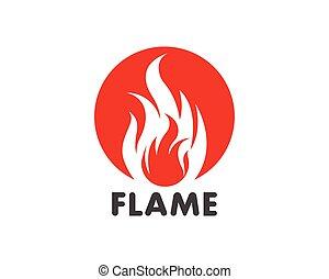 Fire flame Logo Template vector icon Oil, gas and energy logo concept