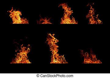 Fire flame set