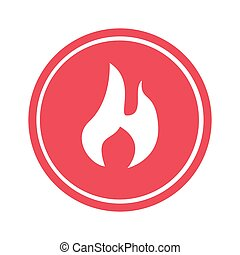 fire flame sign icon