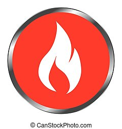 fire flame signal icon