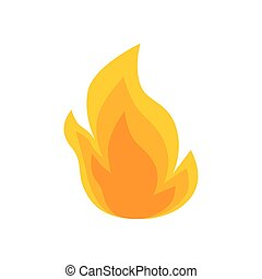 fire flame symbol isolated icon