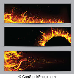 Fire Flame Template - illustration of set of fire flame...
