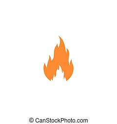 Fire flame Template vector icon Oil, gas and energy