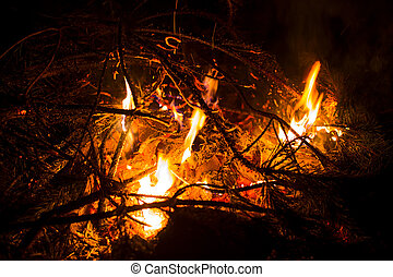 Fire flames and background