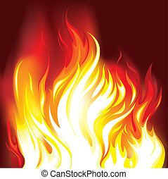 Fire Flames Background, editable vector illustration