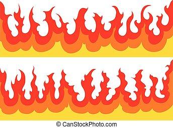 fire-flames, graphique