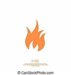 Fire flames. Icon. logo design template.