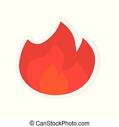 fire flames icon- vector illustration