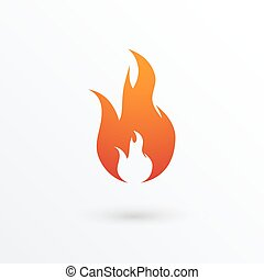 Fire flames icon, vector illustration