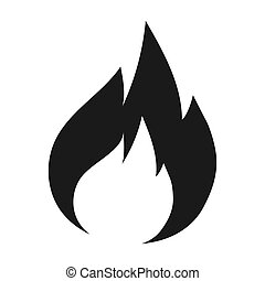 Fire flames icon vector illustration graphics design. Black ...