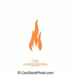 Fire flames. Icon. vector logo design template.