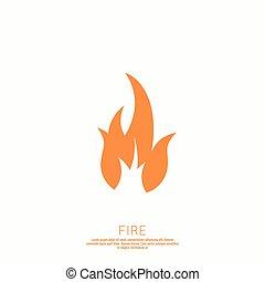 Fire flames. Icon. vector logo design template