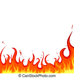 fire - flames - illustration of a hot burning background