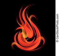 Fire flames - Artistic vector illustration with fire flames....