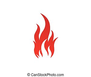 Fire flames Logo