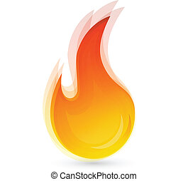 Fire flames logo vector eps10 concept