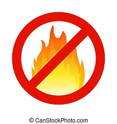 Fire flammable symbol, hazzard flame sign. Safety stop burn warning icon