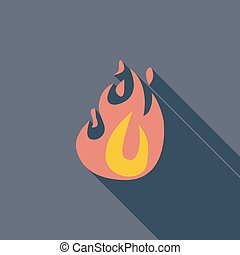 Fire flat icon