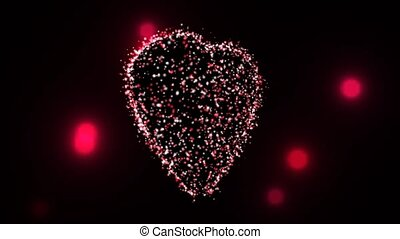 Fire Flies Animating Heart Shape - A love heart shape made...