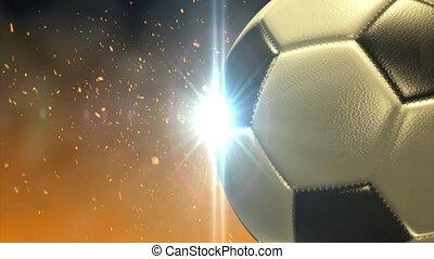 fire., football, brûler, glow., balle