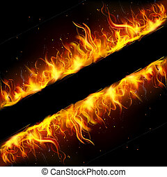 Fire Frame - illustration of frame made of fire flame