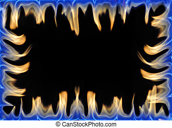 fire frame isolated on black