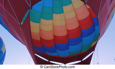 Fire from gas jet burner in hot air balloon