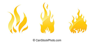 Fire glossy icons